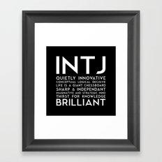 INTJ (black version) Framed Art Print