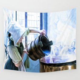 Chores of a chambermaid Wall Tapestry