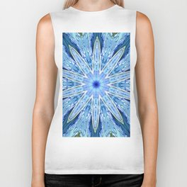 Thinking of You Blue Kaleidoscope Biker Tank