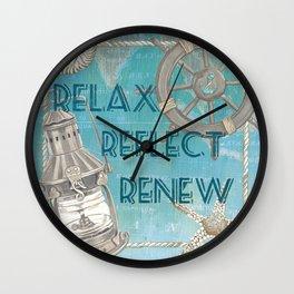 Sea and Shore 2 Wall Clock