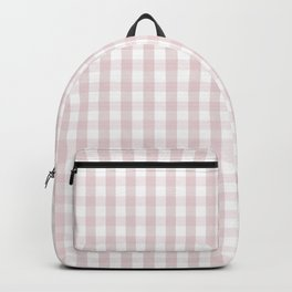 Alice Pink and White Gingham Check Plaid Backpack