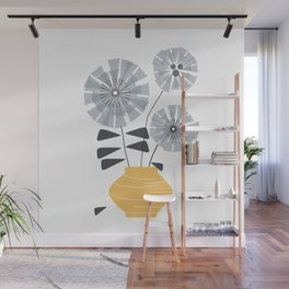Midcentury Floral #society6 #decor #floral Wall Mural