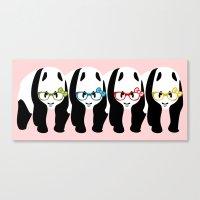 pandas Canvas Prints featuring Pandas by mailboxdisco