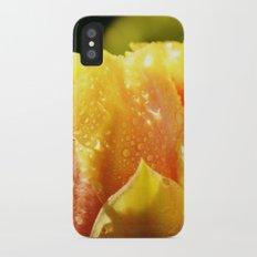 Raindrop Cactus Flower iPhone X Slim Case