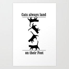 Cats Always Land on their Feet Art Print