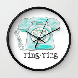 Vintage phone ring ring Wall Clock