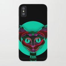 Black CAT- Black iPhone X Slim Case
