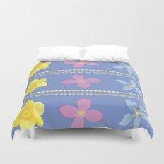 Spring Flowers Pattern [BLUE] Duvet Cover