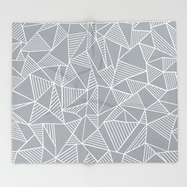 Abstraction Lines Grey Throw Blanket