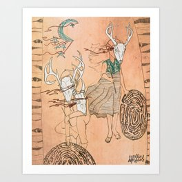 These Mazes We Carry Art Print