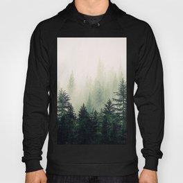 Foggy Pine Trees Hoody