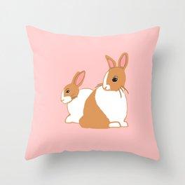 Blonde Dutch Rabbits Throw Pillow
