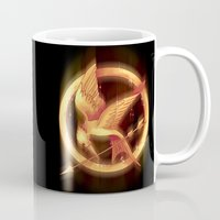 mockingjay Mugs featuring Mockingjay by KanaHyde