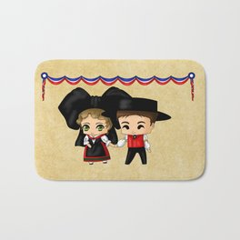French Chibis Bath Mat