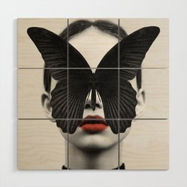 BLACK BUTTERFLY Wood Wall Art