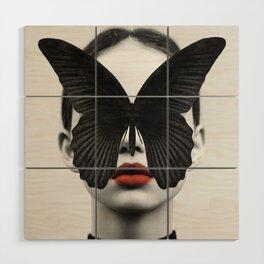 BLACK BUTTERFLY Wood Wall Art