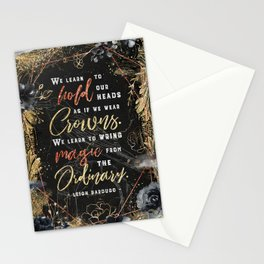 We learn to hold Stationery Cards