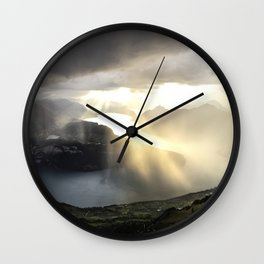 before the sunset and thunderstorm arrive. Wall Clock