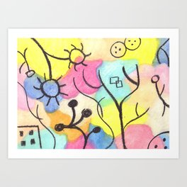 Tribute to Klee XI Art Print