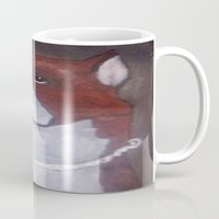 pitbull Mugs featuring Boxer or Pitbull  by MyOldArtwork