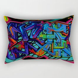 Graffiti Downtown ATL Rectangular Pillow