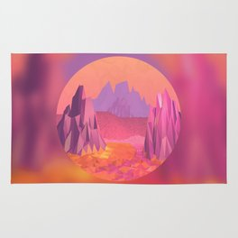Woah, Pink Mountains Rug