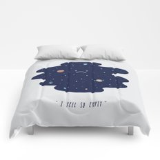 Negative Space Comforters
