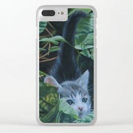 On joue à cache-cache Clear iPhone Case
