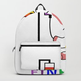 My blood type is unicorn Backpack