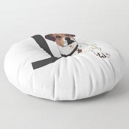 J is for Jack Russell Terrier Floor Pillow