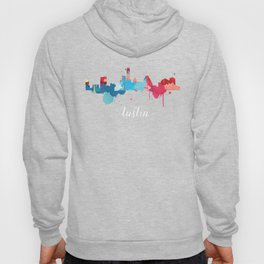 Austin Cityscape Watercolor Hoody