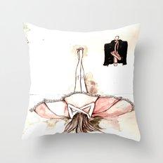 Ballet&leather Throw Pillow