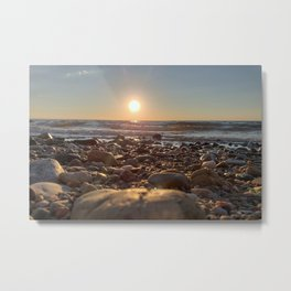 Majestic Beach Sunset Metal Print