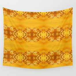 Golden Hibiscus Abstract Pattern Wall Tapestry