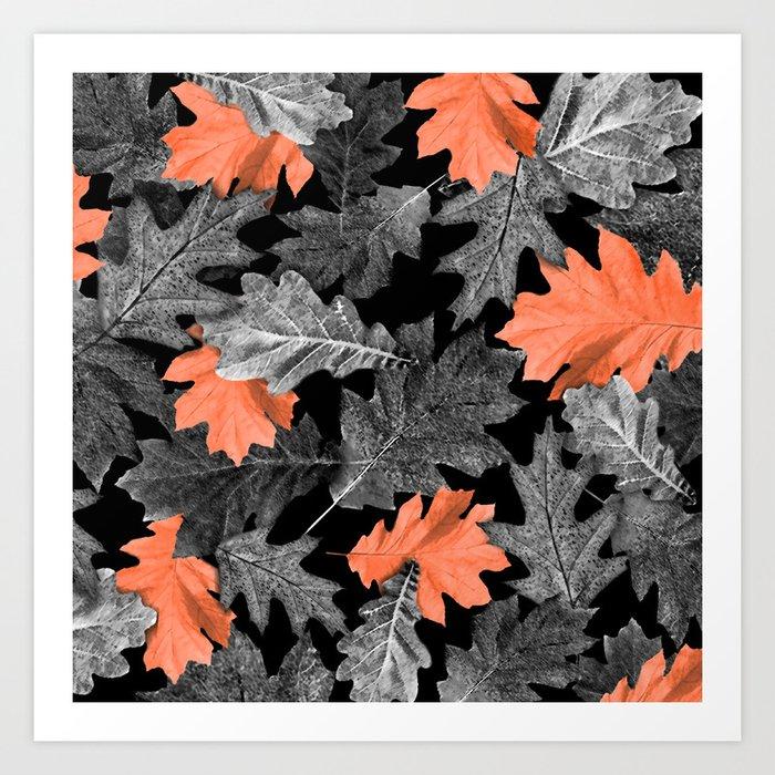 Fall Leaves - Orange Art Print