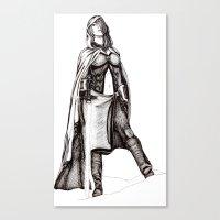 jedi Canvas Prints featuring Grey Jedi by Margret Stewart