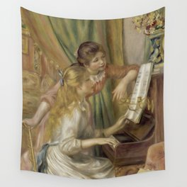 """Auguste Renoir """"Young Girls at the Piano"""" Wall Tapestry"""