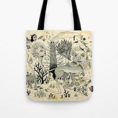 Grotesque Flora and Fauna Tote Bag