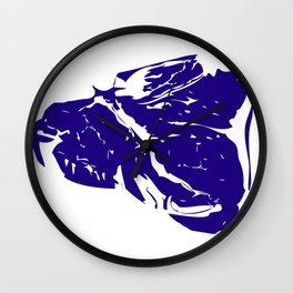 Blue Steak Wall Clock