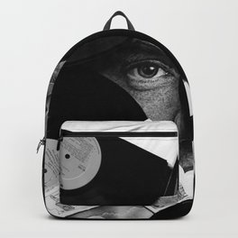 Long-playing Records and Covers in Black and White - Good Memories #decor #society6 #buyart Backpack