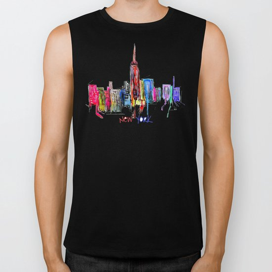 new york inked  Biker Tank
