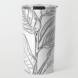Prayer Plant - Maranta - Botanical Line Art Travel Mug