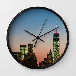 Manhattan Skyline Wall Clock