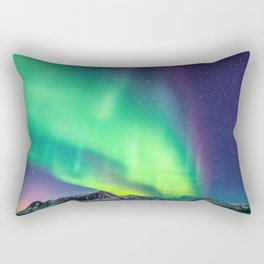 Northern Lights in Iceland Rectangular Pillow