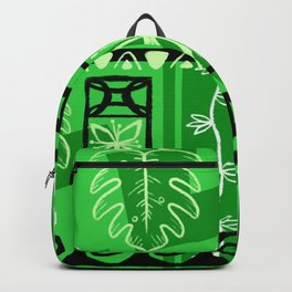 Hawaiian Pattern #1 - green! Backpack