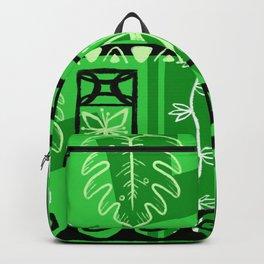 Hawaiian Pattern #1 - green! Backpack
