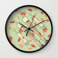 fall Wall Clocks featuring fall by freshinkstain