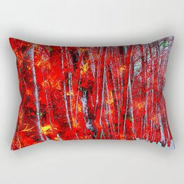 Wooded in Red Rectangular Pillow