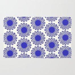 vintage flowers blue  Rug
