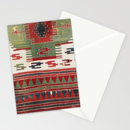 Sivrihisar Eskisehir Province Turkish Kilim Fragment Print Stationery Cards